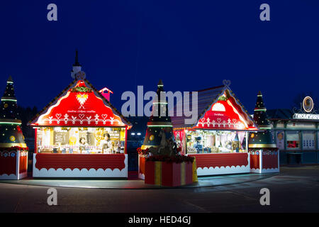 Disney village at Christmas Marne La Vallee France - Stock Image