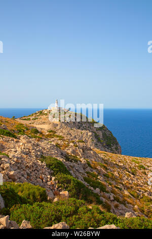 Famous 'Cap de Formentor' (Formentor cape) on spanish island Mallorca - Stock Image