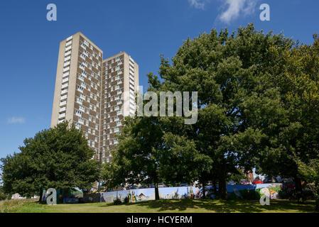 Millbrook Towers on the outskirts of Southampton UK - Stock Image