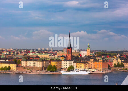 Panorama of Gamla Stan in Stockholm, Sweden - Stock Image