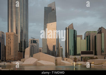 New Architectural Monuments at Al Hosn Palce, Abu Dhabi - Stock Image