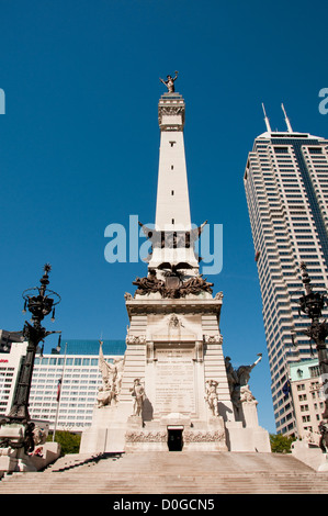 USA, Indiana, Indianapolis, Soldiers and Sailors Monument. - Stock Image