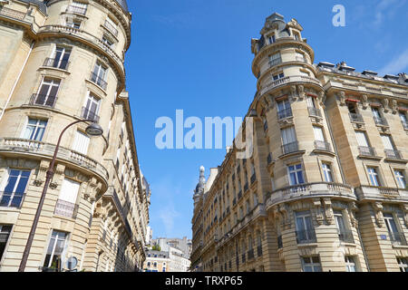 PARIS, FRANCE - JULY 21, 2017: Ancient luxury buildings with tower in a sunny summer day in Paris, France - Stock Image