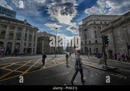 bank junction london - Stock Image