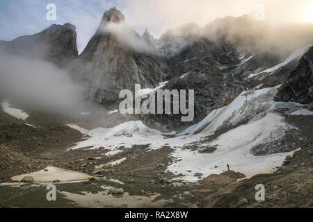Mountains of Tasermiut Fjord - Stock Image