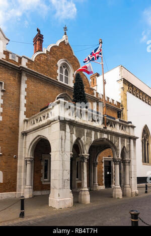 The Convent building,official residence of the Governor of Gibraltar, overseas British territory, United Kingdom, UK - Stock Image