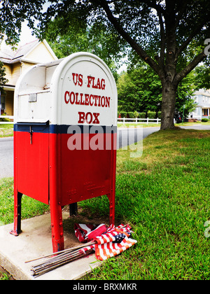 US flag collection box - Stock Image