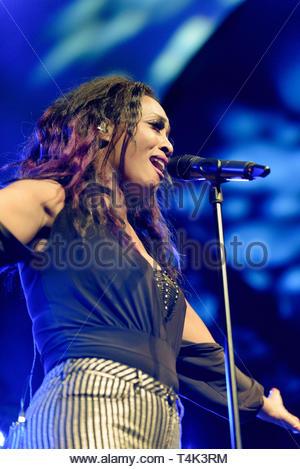 Beverley Knight performing at the Cheltenham Jazz Festival, England, 2016 - Stock Image