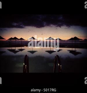 Sunset Pool - Stock Image
