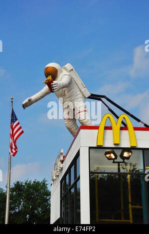 Nasa McDonald's, Houston, Texas, USA - Stock Image