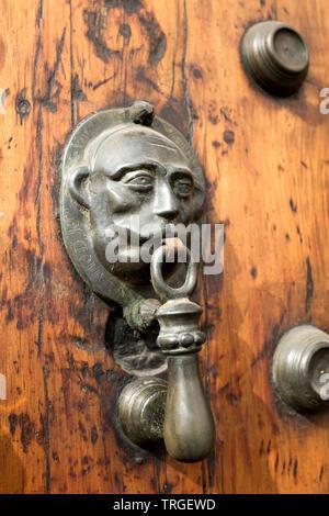 Ornate Door Knocker Centro Historico Mexico City - Stock Image