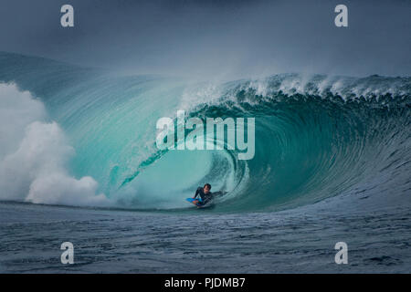Riley's wave, bodyboarding, Doolin, Clare, Ireland - Stock Image