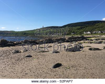 Kildonan beach, Arran, scotland - Stock Image