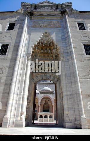 Turkey, Istanbul, (municipality of Fatih), Suleymaniye quarter, mosque of Suleymaniye (mosque of Soliman) - Stock Image