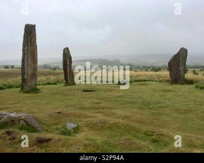 Machrie Moor Stone Circles, Isle of Arran. - Stock Image