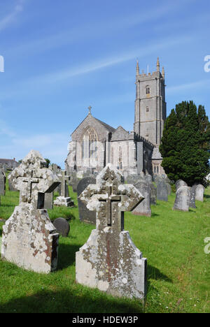 St Nectan's Church at Stoke near Hartland in North Devon - Stock Image