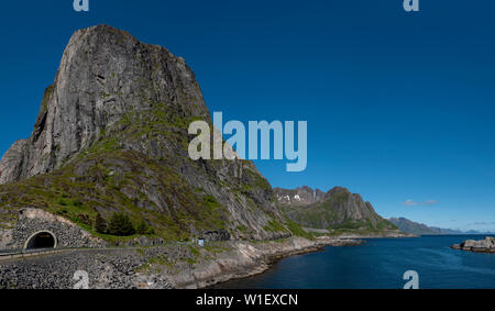 E10 road tunnel at Hamnoy, Lofoten Islands,Norway. - Stock Image