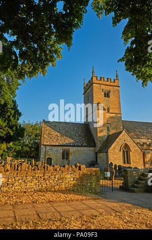 St Eadburgha's church Broadway on a summer evening. - Stock Image
