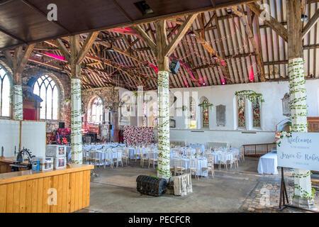 St Mary's Arts Centre,Wedding Venue,Strand Street, Sandwich, Kent, - Stock Image