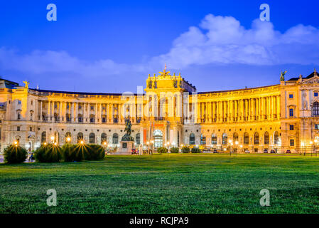 Vienna, Austria. Imperial Hofburg Palace is the former imperial palace in the centre of Wien, residence of Habsburg monarchs - Stock Image