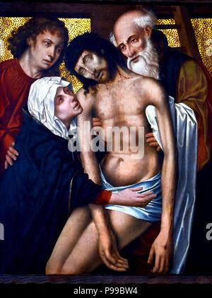 Deposizione - Deposition Rogier van der Weyden ,1399 - 1464, Flemish, Belgian, Belgium - Stock Image