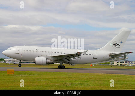 EADS CASA Airbus A310 -324 MRTT Multi Role Tanker Transport jet plane at Farnborough International Airshow. Dual role air refueling tanker and cargo - Stock Image