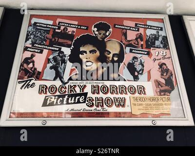 The rocky horror picture show movie film poster - Stock Image
