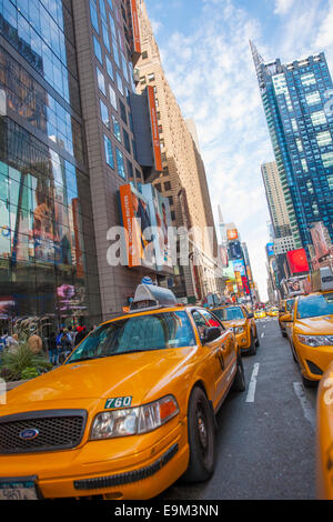 New York City Downtown Taxis - Stock Image