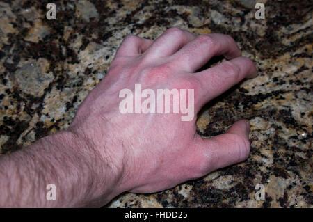 hairy hand, hand, vein, pick - Stock Image