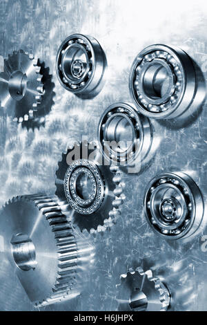 Titanium ball-bearings for the aerospace industry - Stock Image
