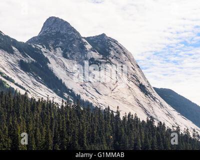 Yak Peak and Zopkios Ridge, seen from British Columbia Highway 5, the 'Coquihalla Highway', completed in - Stock Image
