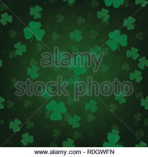 St.Patrick's Day seamless pattern - Stock Image