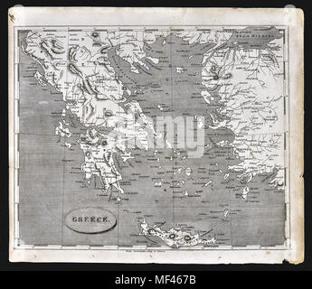 1804 Arrowsmith Map - Greece Balkans Turkey Athens Cyclades Cyprus Aegean Sea - Stock Image