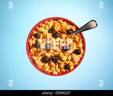 bowl of cereal - Stock Image