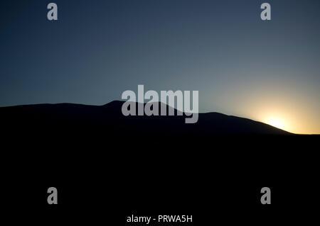 Moncayo mountain, in Zaragoza, Aragon, Spain. Gustavo Adolfo Becquer route. - Stock Image