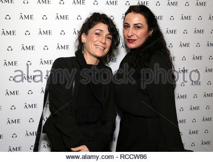 Celebrities attend ÁME Jewelry Launch Event at Eric Buterbaugh Gallery  Featuring: Raphie Rose, Ginnina D'Orazio Where: Santa Monica, California, United States When: 13 Dec 2018 Credit: Brian To/WENN.com - Stock Image