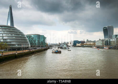 The River Thames in London. - Stock Image