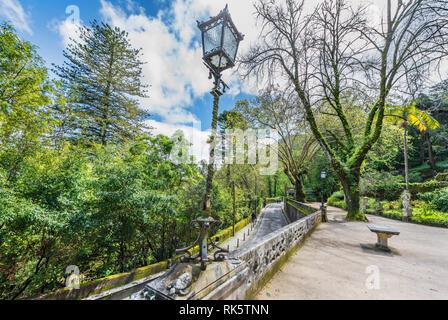 Visiting fabulous Quinta da Regaleira - Stock Image