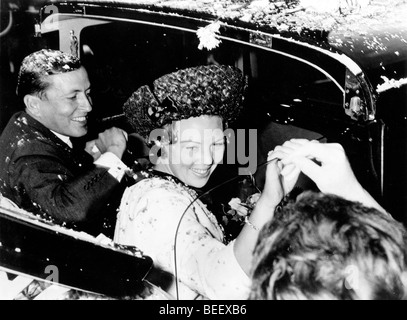 Queen Beatrix of the Netherlands and her husband Claus von Amsberg. - Stock Image