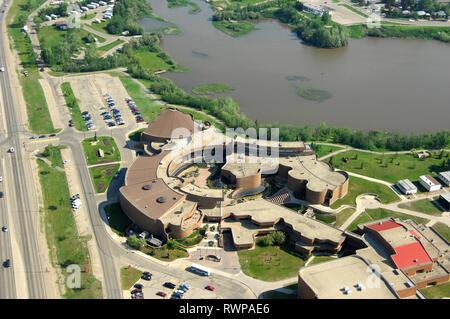 aerial, Grande Prairie College, Grande Prairie, Alberta - Stock Image