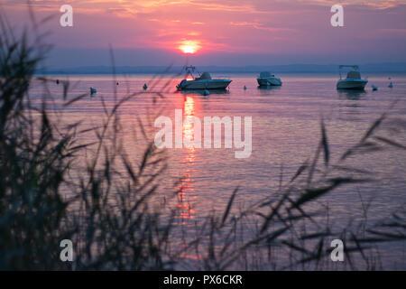 Sunrise at the lake - Stock Image