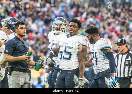 21st October 2018 LONDON, ENG - NFL: OCT 21 International Series - Titans at Chargers  Tennessee Titans Linebacker Jayon Brown (55)- Credit Glamourstock - Stock Image