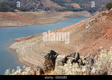 Don Pedro Reservoir, Tuolumne county, California, USA, Tuesday, October 7, 2014 - The water level at Don Pedro Reservoir, - Stock Image