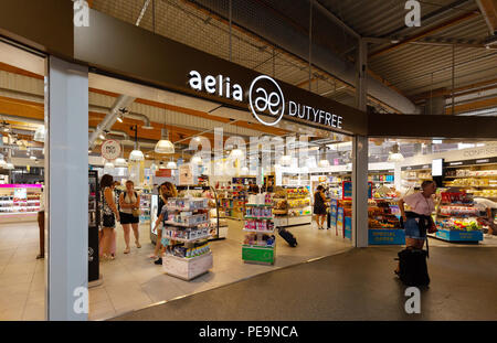The Duty Free shop, Bordeaux Merignac airport, Bordeaux, France Europe - Stock Image