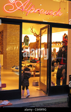Alpenrausch fashion shop in Zurich, switzerland - Stock Image