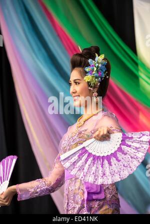 Traditional Thai dance - Stock Image