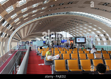 Terminal2E at Paris Charles de Gaulle airport - Stock Image