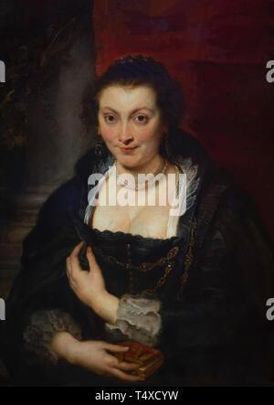 Portrait of Isabella Brandt,  Peter Paul Rubens, circa 1626, Galleria degli Uffizi, Uffizi Gallery, Florence, Tuscany, Italy - Stock Image