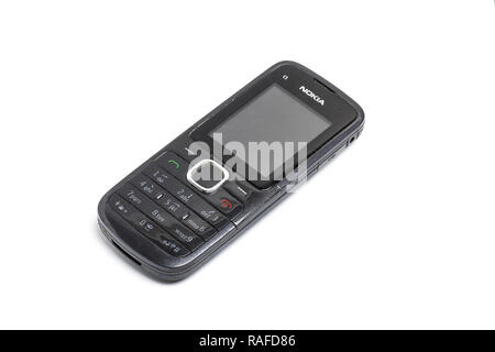 Nokia C1 mobile phone, or cell phone, from 2010 - Stock Image