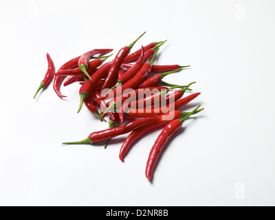 Fresh red chillies - Stock Image